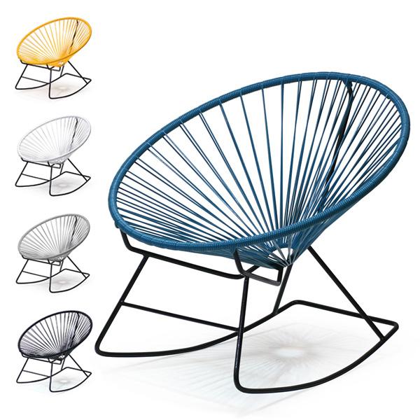 <title>ロッキングチェア ガーデンチェア リビングチェア リラックスチェア メキシコ 室内チェア 爆安プライス 室外チェア 送料無料 Acapulco Rocking Chair アカプルコロッキングチェア メトロクス メキシカン PVCコード</title>