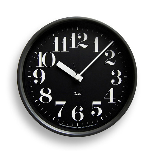 RIKI STEEL CLOCK リキスチールクロック 電波時計 WR08-25 渡辺力 lemnos【楽ギフ_熨斗】【送料無料】