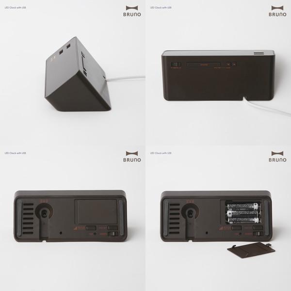 布鲁诺 LED 时钟与 USB BCR001 (带有 USB LED 时钟   闹钟闹钟 USB 时钟 LED 的想法) 10P12Oct14