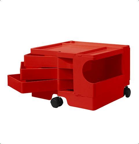 ボビーワゴン Boby Wagon 1段3トレイ レッド ボビーワゴン【送料無料】【ジョエ・コロンボ】【ミッドセンチュリー】【ロングセラー】