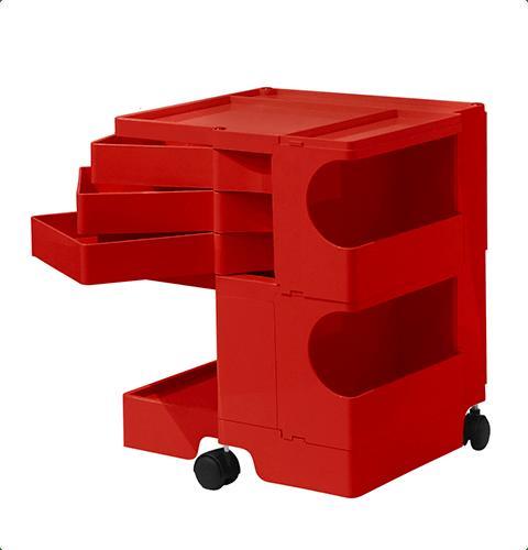 ボビーワゴン Boby Wagon 2段3トレイ レッド ボビーワゴン【送料無料】【ジョエ・コロンボ】【ミッドセンチュリー】【ロングセラー】
