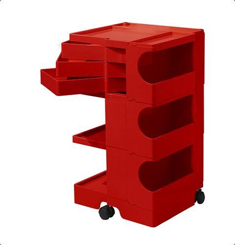 ボビーワゴン Boby Wagon 3段3トレイ レッド ボビーワゴン【送料無料】【ジョエ・コロンボ】【ミッドセンチュリー】【ロングセラー】