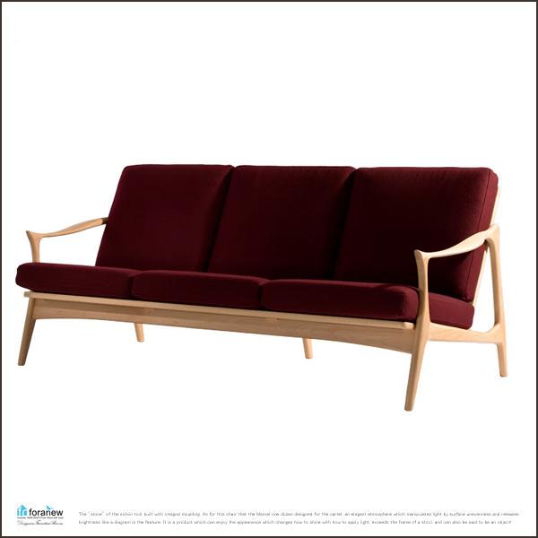 【送料無料】nordo sofa 3seater メープル ノードソファ 3p Fredrik Kayser(フレデリック・カイザー)