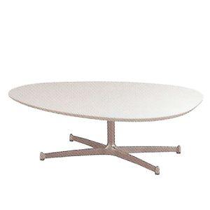 リビングテーブル エッグ UVコート ホワイト