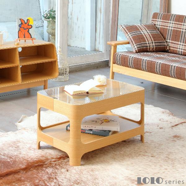 LOLOseries Living Table ロロシリーズ リビングテーブル オーク材 あずま工芸 LOL-265【送料無料】