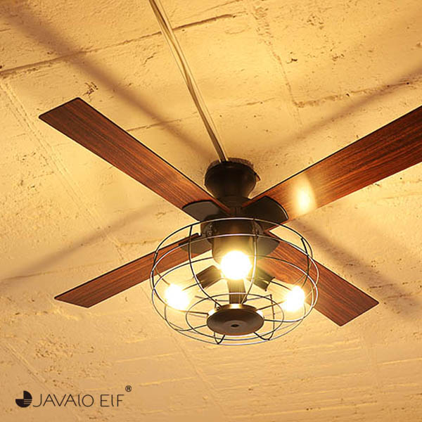 【あす楽】【送料無料】【温度湿度計付きクロックプレゼント】 シーリングファン シーリングライト LED JAVALO ELF ジャヴァロエルフ [JE-CF002V]