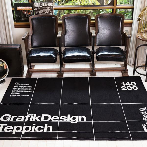 【あす楽】ラグマット TYPOGRAPHY [GRID] RUG 140x200 タイポグラフ グリッドラグ 140×200cm