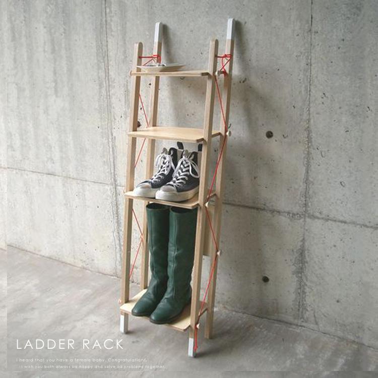 【送料無料】 ラダーラック-シングル (LadderRack-single)シェルフ 収納棚 シューズラック 本棚 サイドボード