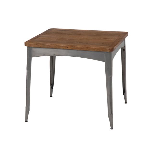【送料無料】ダイニングテーブル 2人掛け 天然木 アイアン