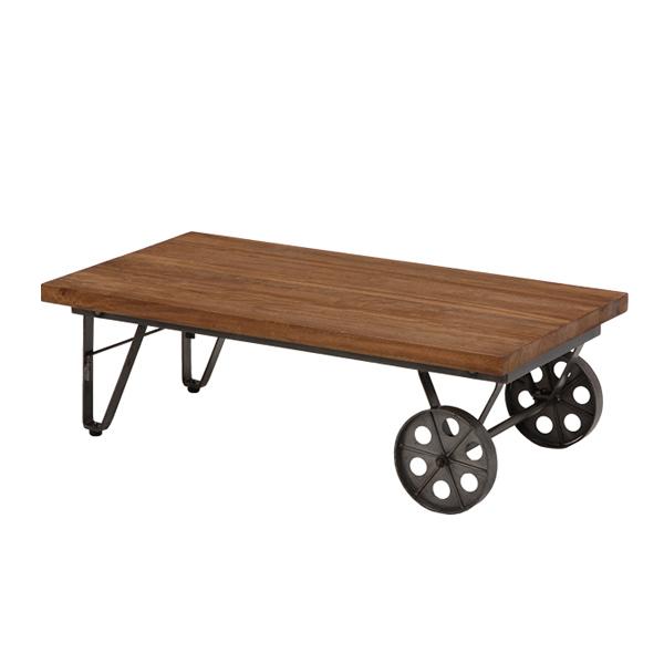 【送料無料】ローテーブル コーヒーテーブル リビングテーブル 天然木 アイアン