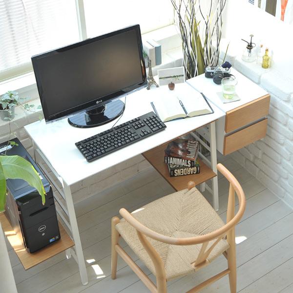 ラダーデスクセット nu-set Ladder Desk Set テーブル+サイドチェスト 机 ワークデスク JKPLAN【送料無料】