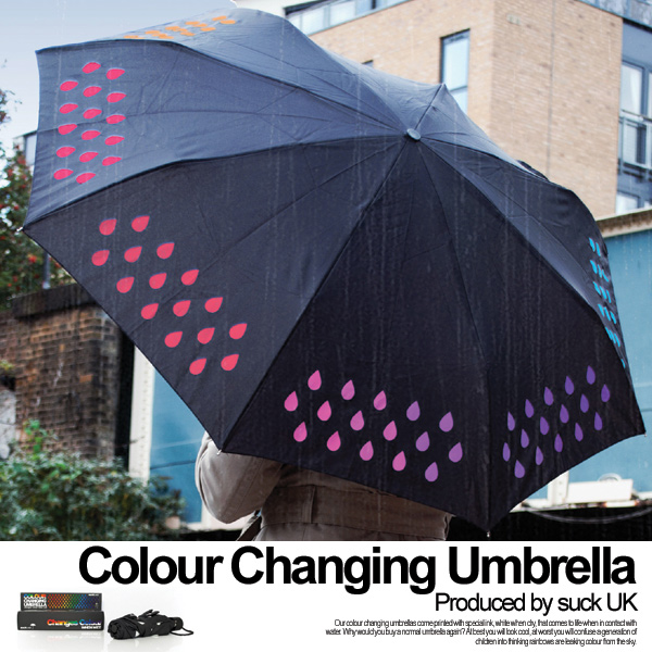 Umbrella colour changing umbrella color Jin Chan Gouin moves slightly; lah folding umbrella suck uk seven colors