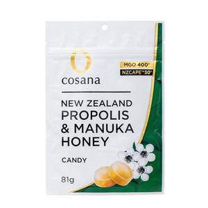 コサナ NZ産プロポリス入りマヌカハニーMGO400+のどあめ 日本産 配送区分:B 内祝い 81g