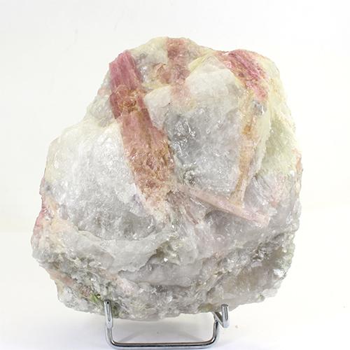 ピンクトルマリン結晶 原石 Brazil 置物 鉱物標本〔 天然石 パワーストーン アクセサリー 〕