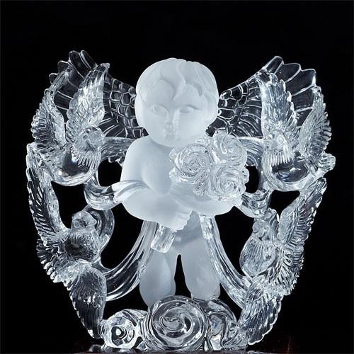 天然石 最高級 天然水晶手彫り天使(エンジェル)鑑別付彫刻置物〔 天然石 パワーストーン アクセサリー 〕