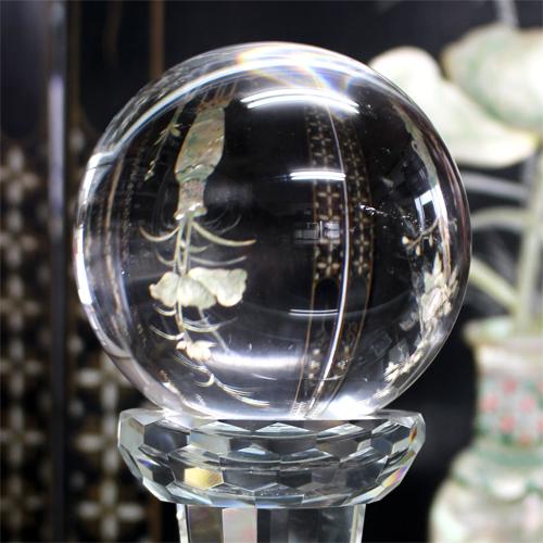 極上品質 透明度抜群 アイリスクォーツ 虹入り 丸玉 スフィア 約102mm〔 天然石 パワーストーン アクセサリー 〕