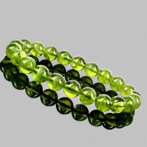 天然石 高品質ペリドット3A ブレスレット 約8mm〔 天然石 パワーストーン アクセサリー 〕