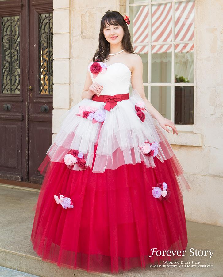 【翌日配送可能】カラードレス,パーティードレス,S,M,L,XL,XXL,Aライン,少女の甘さを残したキュートなデザインでこぼれんばかりの愛らしさをふりまいて♪