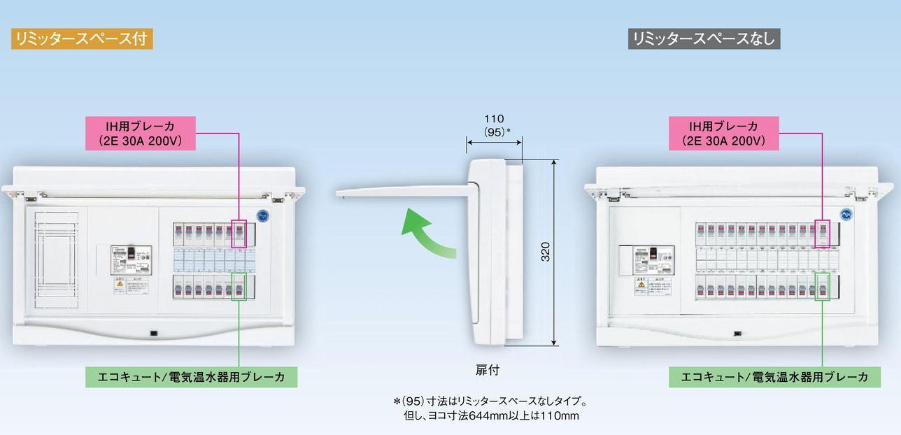 【東芝】小形住宅用分電盤N 扉付・機能付 全電化 50A TFNCB13E5-182E3