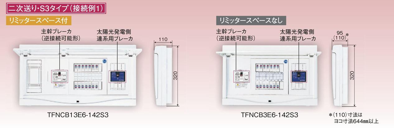 【東芝】小形住宅用分電盤N 扉なし・機能付 太陽光発電システム用 TFNPB13E6-162S3A