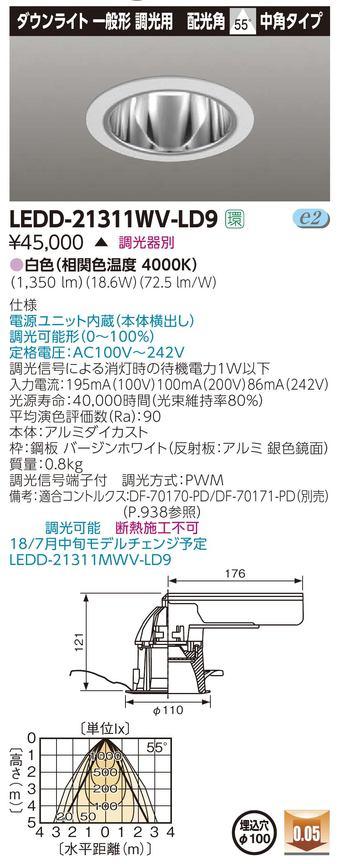 【東芝】【工事必要】ユニット交換形 ダウンライト LEKG103911L-LD9