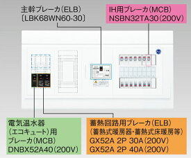 【東芝】小形住宅用分電盤N 扉なし・機能付 全電化 TFNPB13E6-222TL43