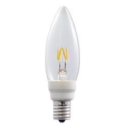 LEDフィラメント電球 白熱電球10W相当 シャンデリア形 E12口金 LDC2L-G-E12/D8/27/3 【ウシオ】LED電球 【コンビニ受取対応商品】