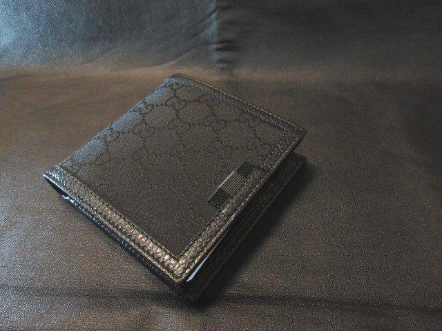 本物正規■GUCCI グッチ■二つ折り財布 GG柄 ナイロン コインケース付き 黒■新品/G1XWN