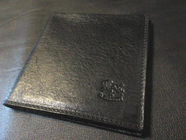 本物正規■IL BISONTE イルビゾンテ■2つ折り財布 本革3462■黒■新品/イタリア製