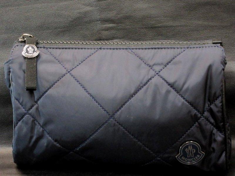 本物正規■モンクレール■セカンドバッグ/ポーチ紺◆新品