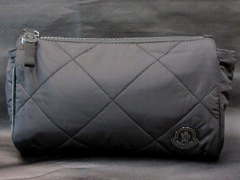 本物正規■モンクレール■セカンドバッグ/ポーチ黒◆新品