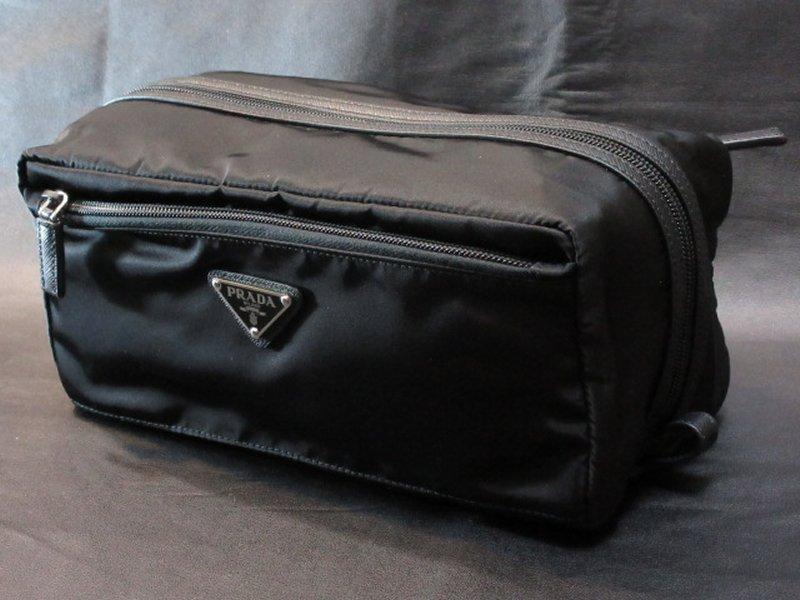 本物正規■PRADA プラダ■セカンドバッグ ナイロン黒■新品・SAFFIAN 2NA030