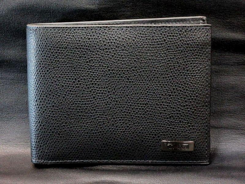 本物正規■TUMI トゥミ■二つ折り財布/レザー コインウオレット HORIZON 黒■新品/本革/017536DXO