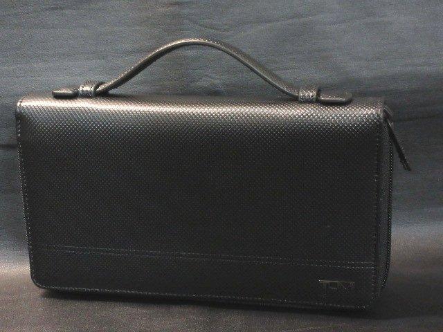 本物正規■TUMI トゥミ■クラッチバッグ/財布レザー HORIZON■黒■新品/ダブルジップアラウンド/TEXTURE/IDロック機能搭載