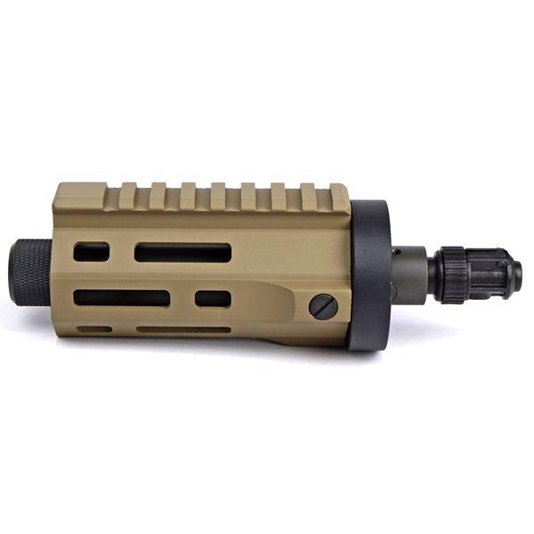 ARES M45 電動サブマシンガン M-LOK CNC ハンドガード ショート DE (AR-HG-037) SMG PDW エアガン 18歳以上 サバゲー 銃