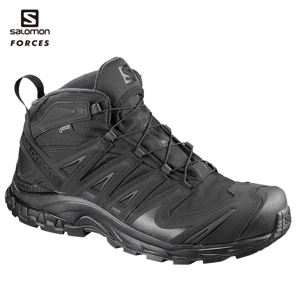 SALOMON FORCES ミドルカット XA FORCES MID GTX BK US9.5(27.5cm) (L4013810027.5) 装備品 靴 タクティカルブーツ サバゲー サバイバルゲーム 服装 アウトドア 服装 ゴアテックス GORE-TEX