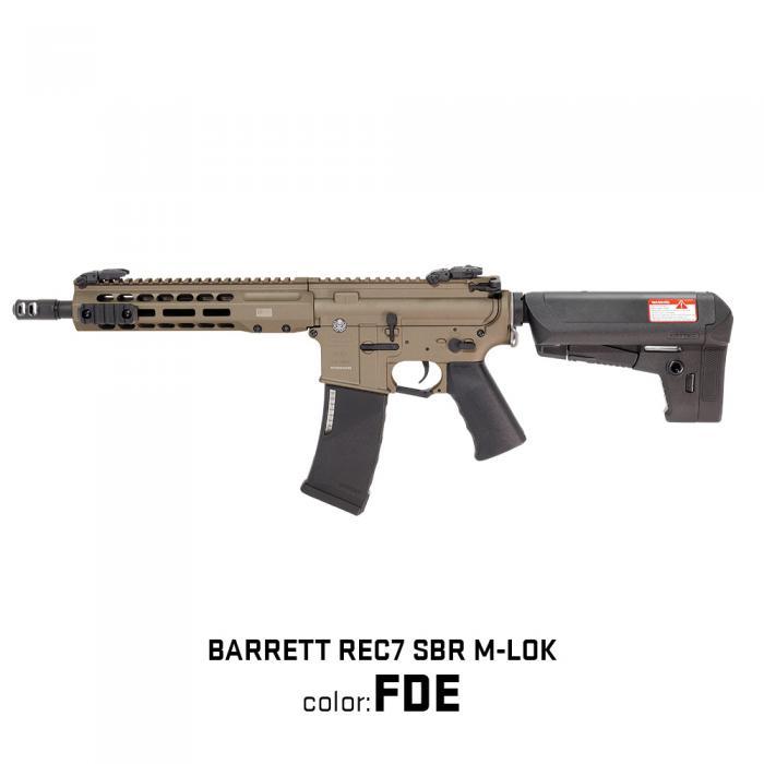 新製品予約 4月28日頃予定 カスタム対応品 KRYTAC 海外製電動ガン本体 BARRETT REC7 SBR M-LOK FDE カスタム ライラクス エアガン 18歳以上 サバゲー 銃