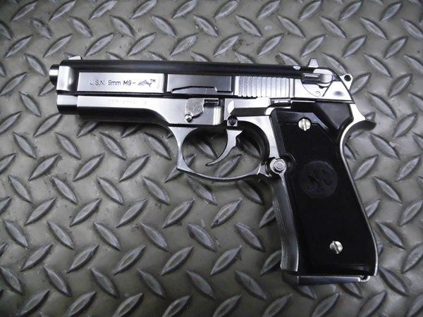 【中古】マルシン: 発火モデルガン本体 M9 DOLPHINE SV ドルフィン エアガン 18歳以上 サバゲー 銃