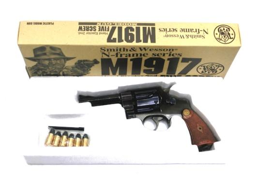 【中古】 タナカワークス:モデルガン:M1917 HE2 4in ビンテージブルーフィニッシュ エアガン 18歳以上 サバゲー 銃