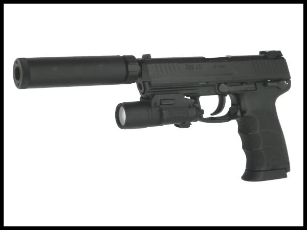 【中古】東京マルイ:ガスハンドガン:HK45 タクティカル BK 18歳以上 サバゲー 銃