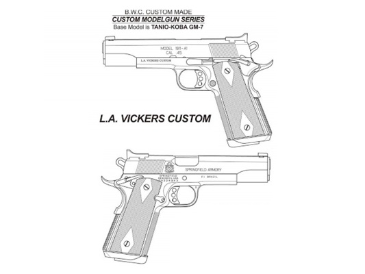 新製品予約 5月頃予定 BWC ブローバックモデルガン L.A.VICKERS CUSTOM 限定品 ミリタリー エアガン 18歳以上 サバゲー 銃