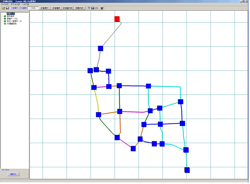 管網の設計・CAD