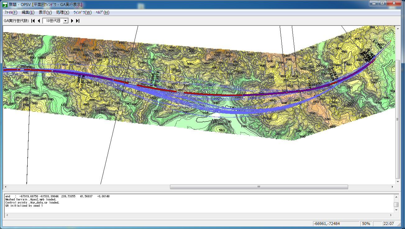 シミュレーション/道路最適線形探索システム/計算結果の可視化 UC-win/Road OHPASSプラグイン・オプション
