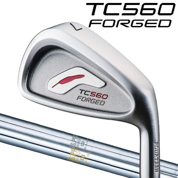 フォーティーン TC-560 フォージド アイアンセット [NSプロ シリーズ] NS PRO 1150GH/1050GH/950GH/850GH スチールシャフト 5本セット(#6~#9,PW)FOURTEEN TC560 FORGED軟鉄鍛造ツアーモデルアイアン 日本シャフト N.S PRO