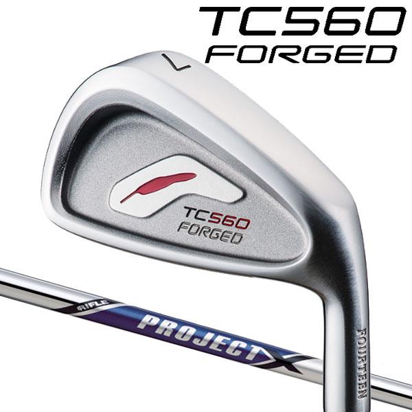 フォーティーン TC-560 フォージド アイアンセット [プロジェクトX シリーズ] プロジェクトX スチールシャフト 5本セット(#6~#9,PW) FOURTEEN TC560 FORGED軟鉄鍛造ツアーモデルアイアン PROJECT X