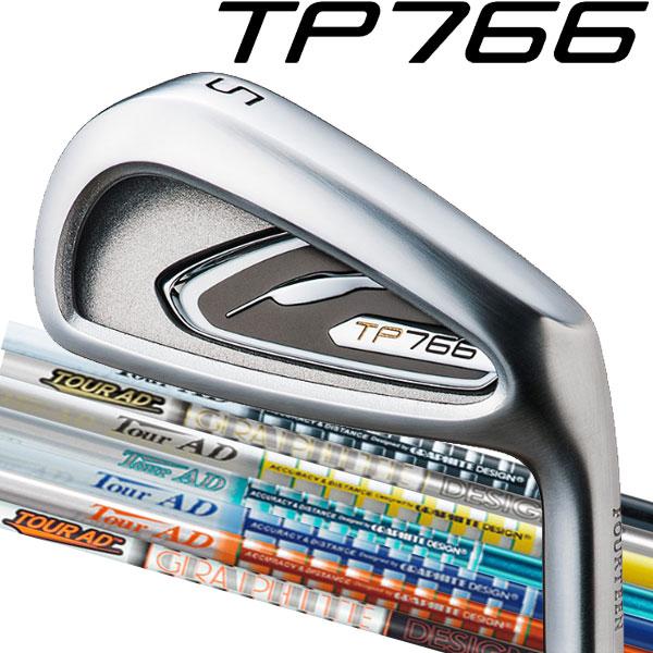 フォーティーン TP-766 アイアン アイアンセット [ツアーAD アイアン用] Tour AD AD-115/AD-105 TP/GP/MJ/BB/DI/MT/GT/スタンダードブラック カラー カーボンシャフト 5本セット(#6~#9,PW)FOURTEEN TP766