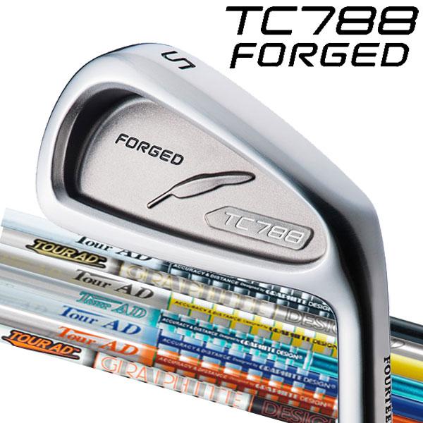 フォーティーン TC-788 フォージド アイアンセット [ツアーAD アイアン用] Tour AD AD-95/85/75/65 タイプ2 TP/GP/MJ/BB/DI/MT/GT/スタンダードブラック カラー カーボンシャフト 5本セット(#6~#9,PW) FOURTEEN TC788 FORGED