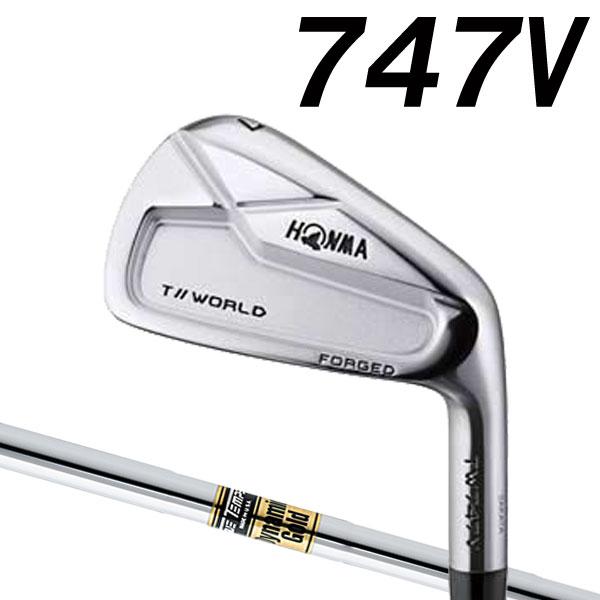 ホンマゴルフ TW747V アイアン [ダイナミックゴールド シリーズ] DG/DG AMT (DYNAMIC GOLD) スチールシャフト 6本セット(#5~#10) HONMA TOUR WORLD ツアーワールド 747V ブイ本間ゴルフ