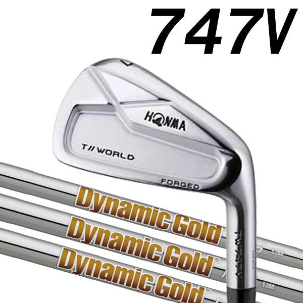 ホンマゴルフ TW747V アイアン [ダイナミックゴールド シリーズ] DG120/105/95 (DYNAMIC GOLD) スチールシャフト 5本セット(#6~#10) HONMA TOUR WORLD ツアーワールド本間ゴルフ 747V ブイ
