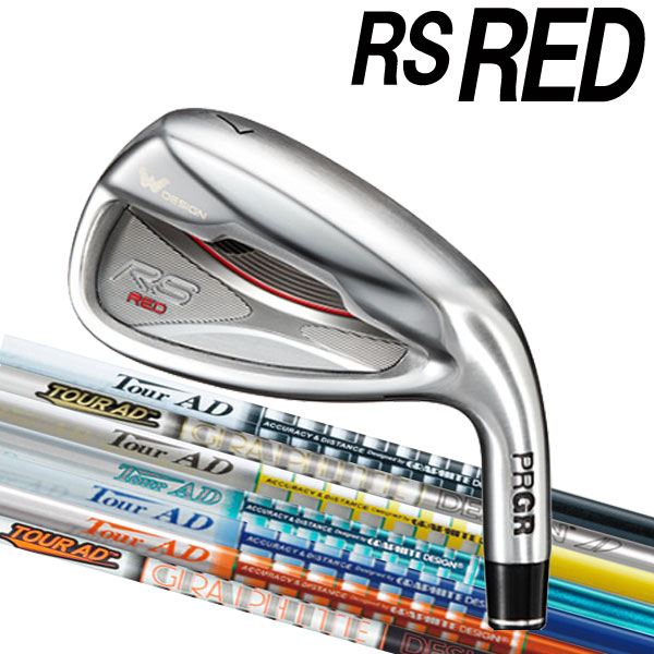 プロギア 新RS RED 2019 アイアン [ツアーAD シリーズ] AD-95/85/75/65  カーボンシャフト 5本セット(#6~#9,PW) IZ/TP/GP/BB/MJ/DI/MT/GTカラー PRGR アールエスレッド RSRED